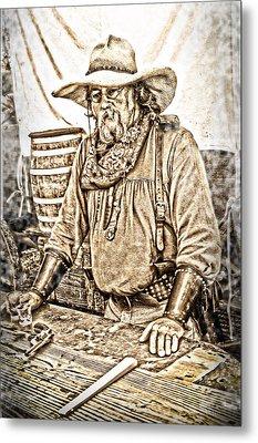 Bad Times Pilgrim Gotta Be Ready Metal Print by Randall Branham