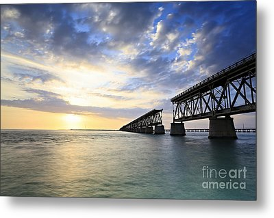 Bahia Honda Old Bridge Metal Print by Eyzen M Kim