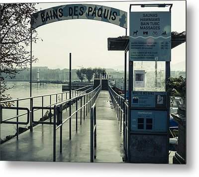 Metal Print featuring the photograph Bains Des Paquis by Muhie Kanawati