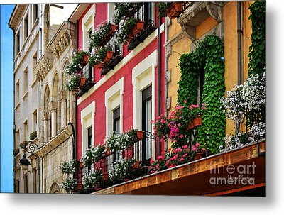 Balconies Of Leon Metal Print by Mary Machare