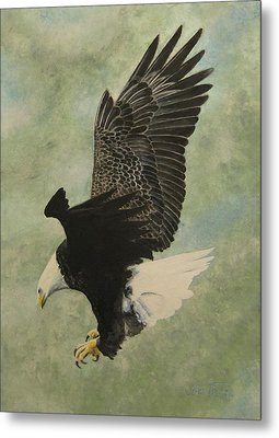 Metal Print featuring the painting Bald Eagle by Stan Tenney