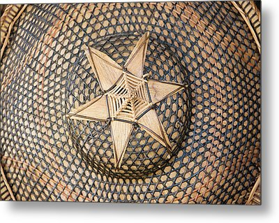 Bamboo Hat, Bohol Island, Philippines Metal Print by Keren Su