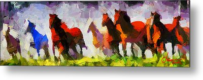 Band Of Horses Tnm Metal Print by Vincent DiNovici