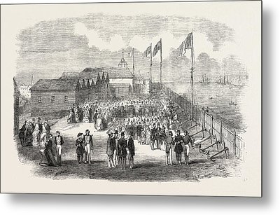 Band Of The 3rd French Regiment Playing In H Metal Print
