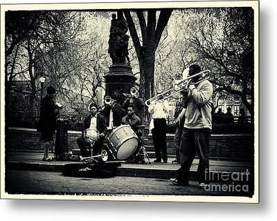 Band On Union Square New York City Metal Print by Sabine Jacobs