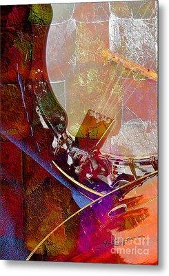 Banjo And Friend Digital Banjo And Guitar Art By Steven Langston Metal Print by Steven Lebron Langston
