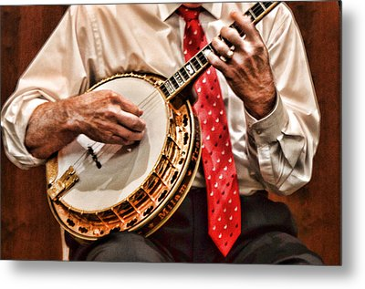 Banjo In Arms Metal Print by Linda Phelps