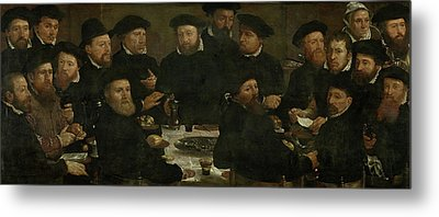 Banquet Of 18 Guardsmen Of Squad L, Amsterdam 1566 Perch Metal Print by Quint Lox