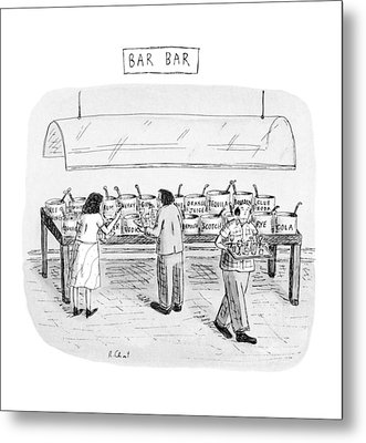Bar Bar Metal Print by Roz Chast