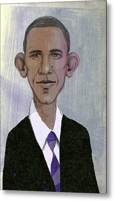 Barack Obama Metal Print by Steve Dininno