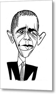 Barack Obama Suit & Tie Metal Print