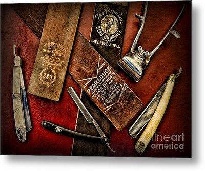 Barber - Barber Tools Of The Trade Metal Print by Paul Ward