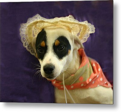 Barbie In A Hat Metal Print by Nina Fosdick
