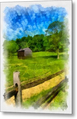 Barn At Hartwood Acres Metal Print by Amy Cicconi