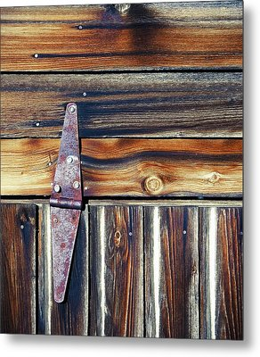 Barn Door Metal Print by Wayne Sherriff
