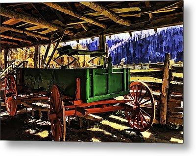 Metal Print featuring the painting Barn by Muhie Kanawati
