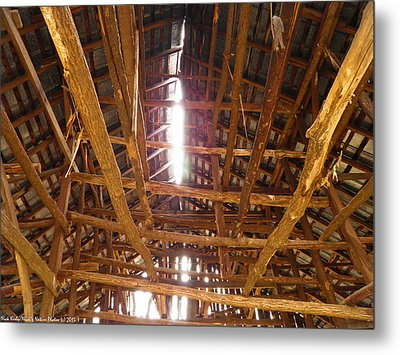 Metal Print featuring the photograph Barn With A Skylight by Nick Kirby