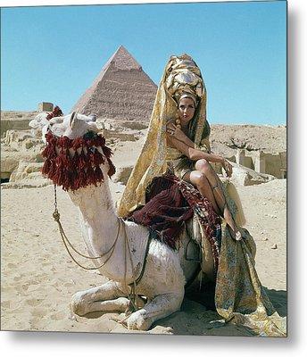 Baronne Van Zuylen On A Camel Metal Print by Leombruno-Bodi