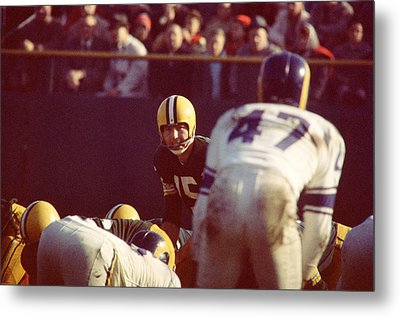 Bart Starr Calls Play Metal Print by Retro Images Archive