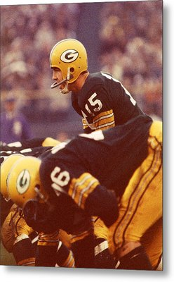 Bart Starr In Charge Metal Print
