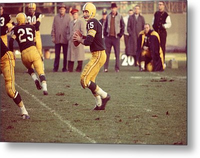 Bart Starr Ready To Throw Metal Print