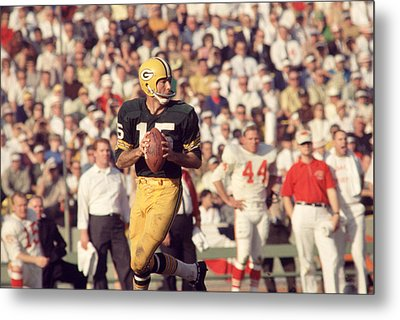 Bart Starr Vs. Chiefs Metal Print