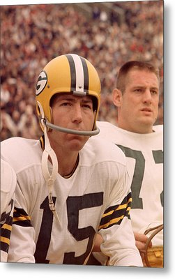 Bart Starr Watches From The Sideline Metal Print