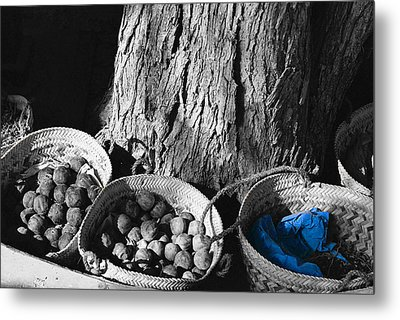 Metal Print featuring the photograph Baskets by Cassandra Buckley