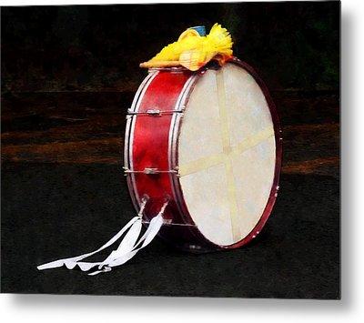 Bass Drum At Parade Metal Print by Susan Savad