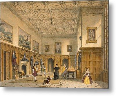 Bat Game In The Grand Hall, Parham Metal Print by Joseph Nash