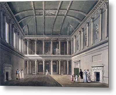 Bath, The Concert Room, From Bath Metal Print by John Claude Nattes