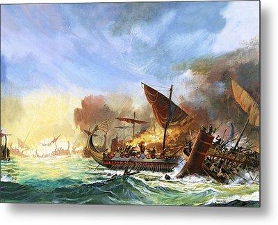 Battle Of Salamis Metal Print by Andrew Howat