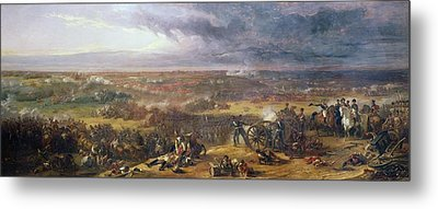 Battle Of Waterloo, 1815, 1843 Metal Print by Sir William Allan