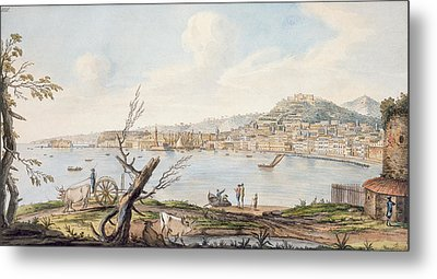Bay Of Naples From Sea Shore Metal Print by Pietro Fabris