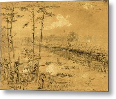 Bayonet Charge Of The 2nd Reg. Col. Hall Metal Print by Quint Lox