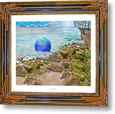 Beach Ball Dreamland Metal Print