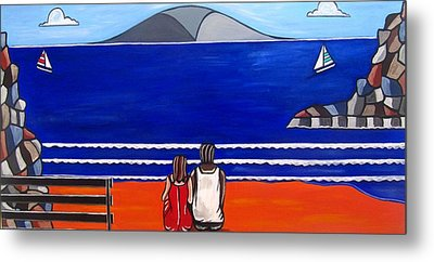 Beach Beach Day Three Metal Print by Sandra Marie Adams