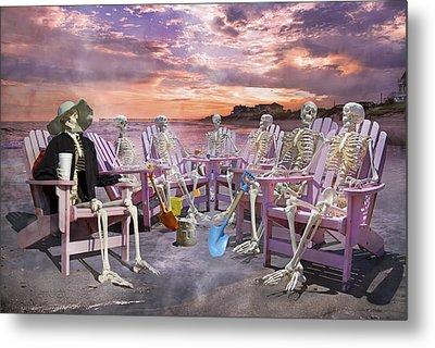 Beach Committee Metal Print by Betsy Knapp