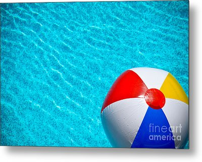 Beachball 1 Metal Print by Amy Cicconi