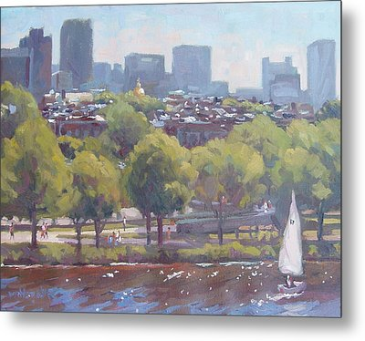 Beacon Hill Metal Print by Dianne Panarelli Miller