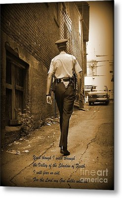 Beat Cop Metal Print by John Malone