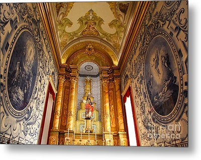 Beautiful Azorean Church Metal Print by Gaspar Avila