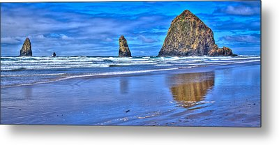 Beautiful Haystack Rock And The Needles Metal Print by David Patterson