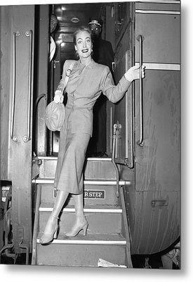 Beautiful Joan Crawford Metal Print by Retro Images Archive