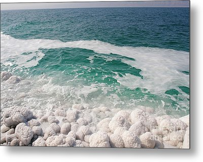 Beautiful Sea Salt Metal Print by Boon Mee