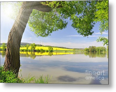 Beautiful Spring Landscape Metal Print by Boon Mee