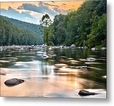 Beauty At Low Tide Metal Print by Tom Cameron