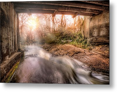 Beauty From Under The Old Bridge Metal Print