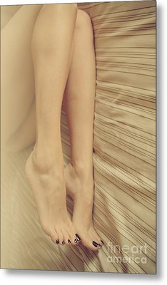 Beauty In Her Feet Metal Print by Tos