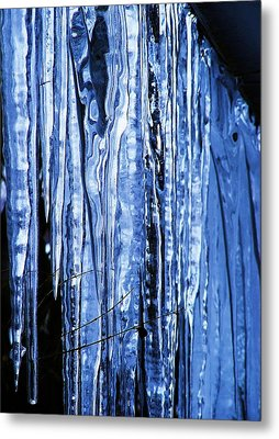 Beauty Of Ice Metal Print